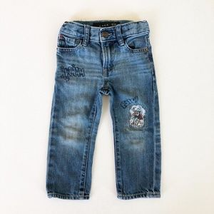 Superhero Distressed Jeans